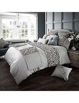 Verina Duvet Cover With Pillowcase Quilt Cover Bed Set Single Double King[Silver,Double] By Gc by Amazon