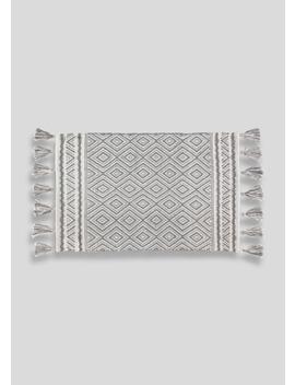 Geometric Tassel Bath Mat (80cm X 50cm) by Matalan