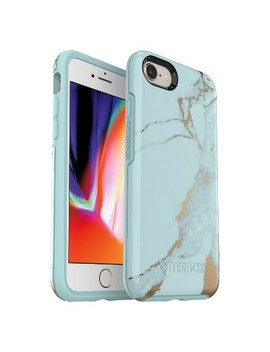Otter Box Apple I Phone 8/7 Case Symmetry   Teal Marble by Shop All Otter Box