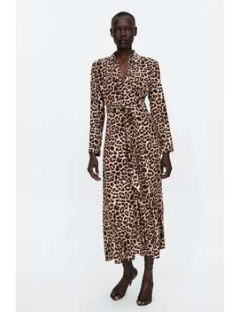 long-leopard-print-dress--dress-timewoman by zara