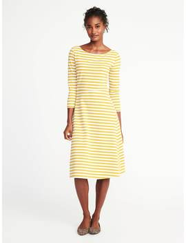 Fit &Amp; Flare Midi Dress For Women by Old Navy