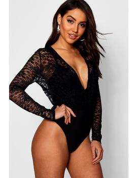 Lace 2 In 1 Bodysuit by Boohoo