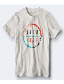 Aero 1987 Checkered Circle Graphic Tee*** by Aeropostale