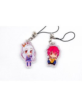 "No Game No Life Double Side Clear Acrylic Charms 2"" Shiro And Sora by About Toon"