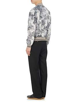 Animal Print Silk Blend Bomber Jacket by Maison Margiela