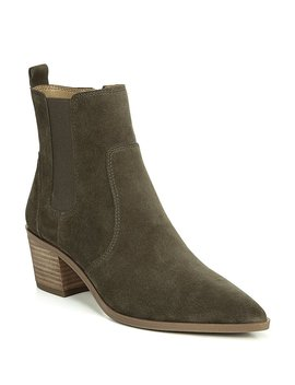 Sienne Suede Block Heel Booties by Generic
