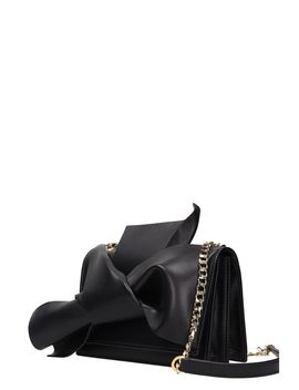 N.21 Small Bow Black Leather Bag by N.21