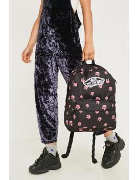 Vans Realm Rose Black Backpack by Vans