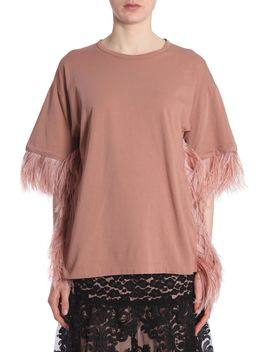 Oversize T Shirt With Feathers by N.21
