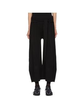 Black Trapezoid Ap Lounge Pants by Issey Miyake