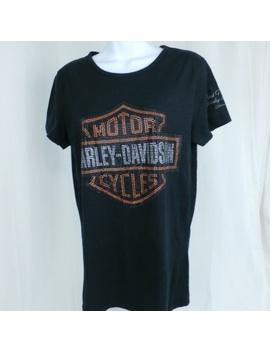 Harley Davidson Short Sleeve Women's Black T Shirt by Harley Davidson