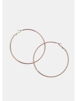 Large Rose Gold Hoops by Miss A