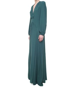 N.21 Point D'esprit Tulle Panel Crepe Gown by N.21