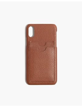 Leather Carryall Case For I Phone® X by Madewell