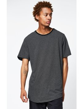 Mador Striped Scallop T Shirt by Pac Sun
