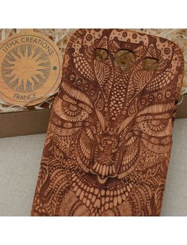 Wood Phone Case  I Phone 8 X 7 7 Plus 6 6 S6 Plus 5 5s 5 C Amazon Trip Psychedelic Custom Design by Litha Creations