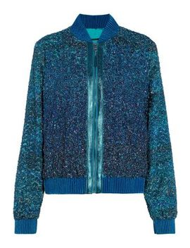 Brandy Embellished Tinsel Bomber Jacket by Elie Tahari