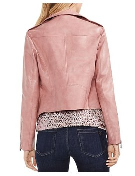 Faux Leather Moto Jacket by Vince Camuto