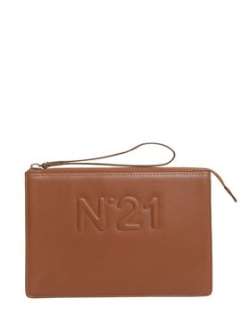 Clutch With Embossed Logo by N.21