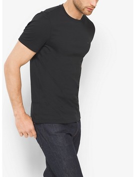 Cotton Crewneck T Shirt by Michael Kors Mens