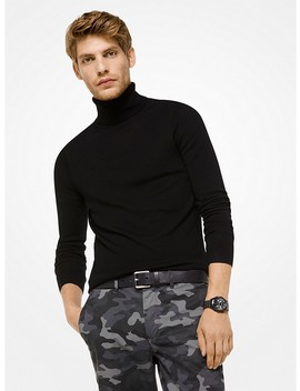 Cotton Blend Turtleneck by Michael Kors Mens