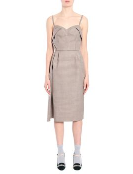 Pied De Poule Wool Dress by N.21