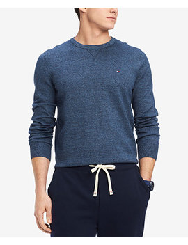 Men's Signature Solid Crew Neck Classic Fit Sweater, Created For Macy's by Tommy Hilfiger