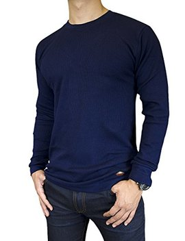 Knocker Men's Mid Weight Thermal Long Sleeve Top Shirt by Knocker