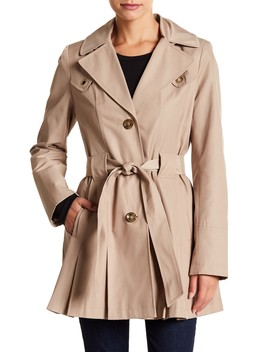 Water Resistant Pleated Trench Coat by Via Spiga