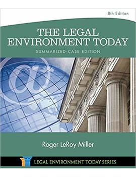 The Legal Environment Today   Summarized Case Edition (Mind Tap Course List) by Amazon