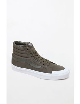 Canvas Sk8 Hi Reissue 138 Olive Shoes by Vans