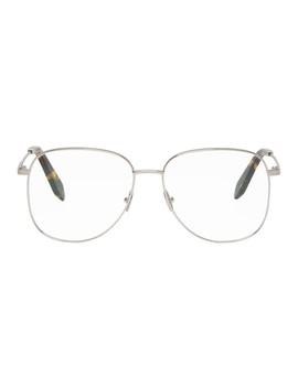 Silver Grooved Feminine Glasses by Victoria Beckham