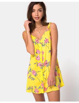 Osla Slip Dress In Candy Rose Yellow By Motel by Motel Rocks