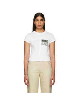 White Lapped Baby T Shirt by Eckhaus Latta