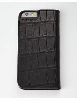 Black Alligator I Phone 6 Wallet Folio by