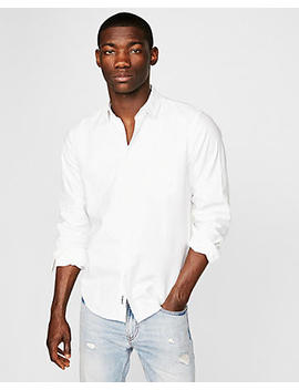 Classic Soft Wash White Oxford Shirt by Express