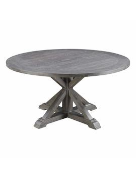 Emerald Home Furnishings D350 12 K Paladin Round Dining Table, Standard, Rustic Charcoal Gray by Emerald Home Furnishings