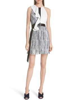 Contrast Frill Minidress by Self Portrait
