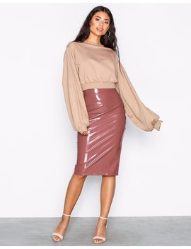 Patent Midi Skirt by Nly One