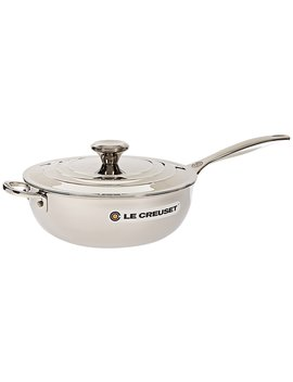 Le Creuset Tri Ply Stainless Steel Saucier Pan With Lid And Helper Handle, 3.5 Quart by Le Creuset