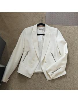 Zara Trafaluc Size Medium White Blazer Jacket by Zara