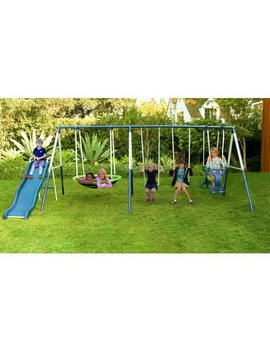 Sportspower Outdoor Rosemead Metal Swing And Slide Set by Sportspower