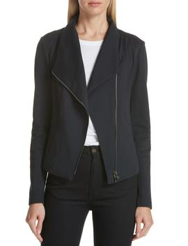 High Collar Fitted Jacket by Nordstrom Signature