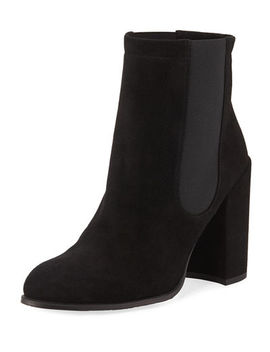 Sidemove Calfskin Suede Ankle Bootie by Stuart Weitzman