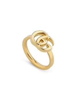 18k Yellow Gold 13mm Gg Running Ring, Size 6.75 by Gucci