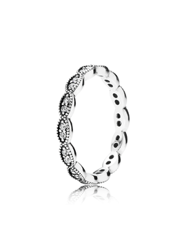 Sparkling Leaves Stackable Ring, Clear Cz by Pandora