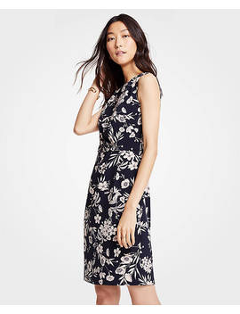 Floral Ruched Sheath Dress by Ann Taylor