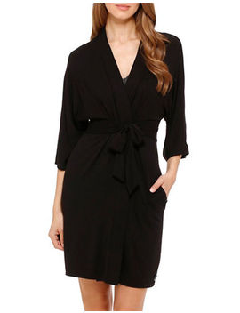 Seven Easy Pieces Short Wrap Robe by Dkny