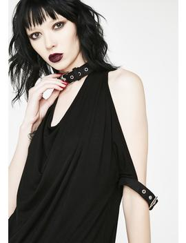 Thalia Draped Cold Shoulder Top by Necessary Evil