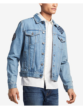 Men's Patch Denim Jean Jacket, Created For Macy's by Tommy Hilfiger